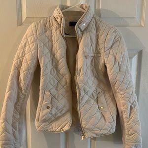 Zara small cream quilt jacket